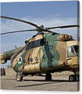 An Afghan Air Force Mi-17 Helicopter Canvas Print