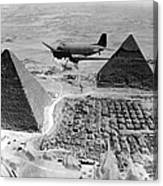 An Air Transport Command Plane Flies Canvas Print