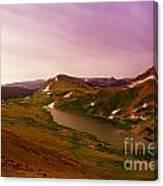 An Alpine Lake On Beartooth Pass  Canvas Print