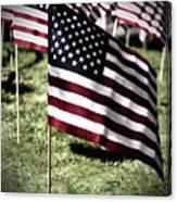 An American Flag Canvas Print