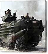 An Amphibious Assault Vehicle Hits Canvas Print