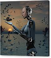 An Android Takes A Closer Look Canvas Print