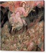 An Angel Piping To The Soulds In Hell Canvas Print