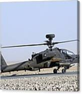 An Apache Helicopter Prepares Canvas Print