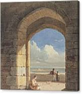 An Arch At Holy Island - Northumberland Canvas Print