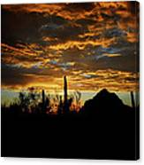 An Arizona Desert Sunset  Canvas Print