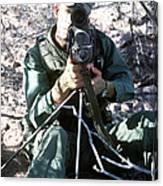 An Army Ranger Sets Up An Anpaq-1 Laser Canvas Print