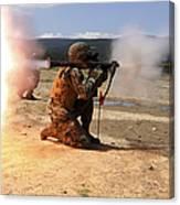 An Assaultman Fires A Rocket Propelled Canvas Print