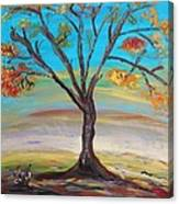 An Autumn Locust Tree Canvas Print