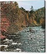 An Autumn Scene Along Little River Canvas Print