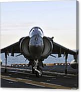An Av-8b Harrier Maneuvers Canvas Print