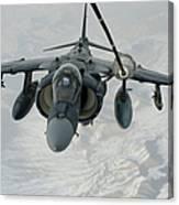 An Av-8b Harrier Receives Fuel Canvas Print