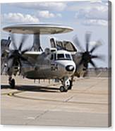 An E-2c Hawkeye On The Runway At Cannon Canvas Print
