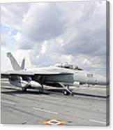 An Ea-18g Growler Takes Off From Uss Canvas Print