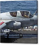 An Ea-6b Prowler During Flight Canvas Print