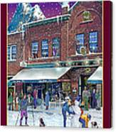 An Early Snow For Cafe Monte Alto Canvas Print