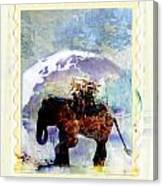 An Elephant Carrying Cargo Canvas Print