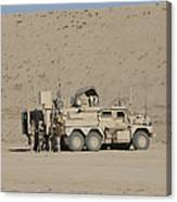 An Eod Cougar Mrap In A Wadi Canvas Print