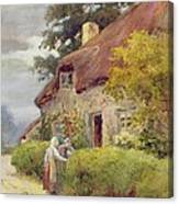 An Evening Gossip Canvas Print