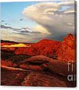 An Evening In The Valley Of Fire Canvas Print
