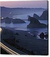 An Evening View Of Highway 101 South Canvas Print