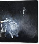 An Exploded Light Bulb Canvas Print
