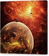 An Eye-shaped Nebula And Ring Canvas Print