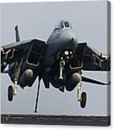 An F-14d Tomcat Comes In For An Canvas Print