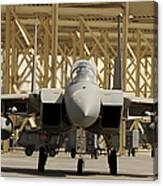 An F-15 Eagle Taxis Prior To A Training Canvas Print