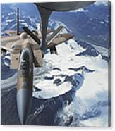 An F-15c Eagle Aircraft Sits Canvas Print