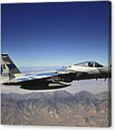 An F-15e Strike Eagle From The 65th Canvas Print