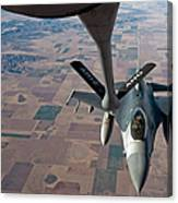 An F-16 Fighting Falcon Moves Canvas Print