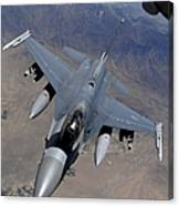 An F-16 Fighting Falcon Returns Canvas Print