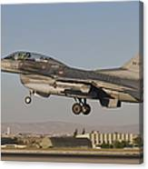 An  F-16b Of The Turkish Air Force Canvas Print