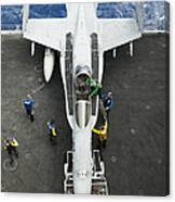 An Fa-18c Hornet Aircraft Canvas Print