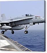 An Fa-18c Hornet Catapults Canvas Print
