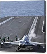 An Fa-18d Hornet Launches Canvas Print
