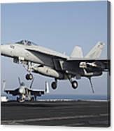 An Fa-18e Super Hornet Prepares Canvas Print