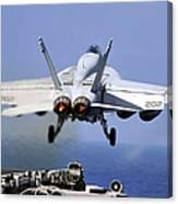 An Fa-18e Super Hornet Takes Canvas Print