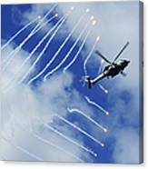An Hh-60h Sea Hawk Helicopter Releases Canvas Print