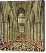 An Interior View Of Westminster Abbey On The Commemoration Of Handel's Centenary Canvas Print