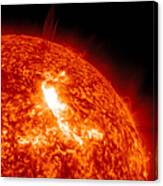 An M8.7 Class Flare Erupts On The Suns Canvas Print