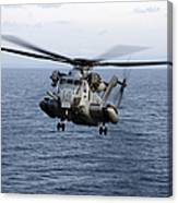An Mh-53e Sea Dragon In Flight Canvas Print