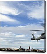 An Mh-60s Sea Hawk Lifts A Pallet Canvas Print