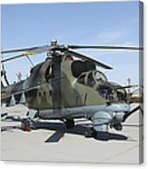 An Mi-24 Hind Helicopter Canvas Print