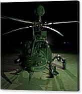 An Oh-58d Kiowa Helicopter At Cob Canvas Print
