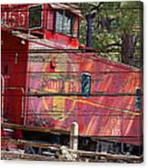 An Old Caboose  Canvas Print
