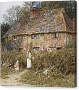 An Old Surrey Cottage Canvas Print
