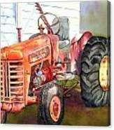An Old Tractor Canvas Print