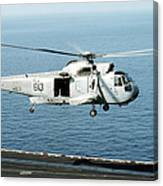 An Sh-3h Sea King Helicopter Prepares Canvas Print
